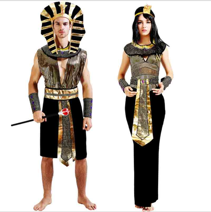 Couples Ladies /& Mens Egyptian God Goddess Halloween Fancy Dress Costumes Outfit