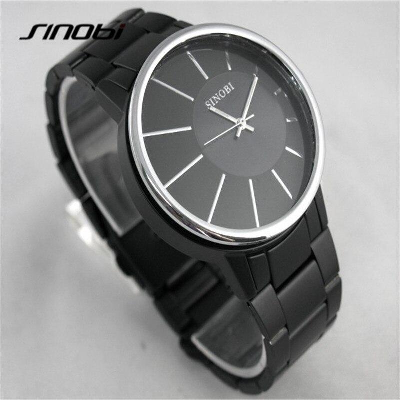 SINOBI 9338 Relogio Masculino Stainless Steel Black Quartz Watches Men Luxury Brand Quartz-Watch 2017 Top Hot Relojes Hombre A72<br><br>Aliexpress