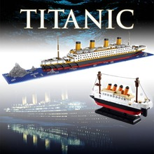 Movie RMS The Titanic Model Cruise Ship Titanic Building Blocks Boat 3D Model Toys Educational Toys for Children