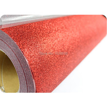 CDG-03 Red color Glitter Heat transfer vinyl rolls easy cut plotter for cotton fabric