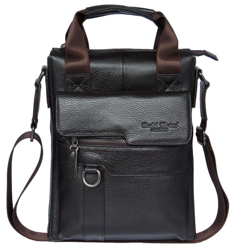 Hot sales Male shoulder bag handbag messenger bag commercial office bag briefcase genuine cowhide leather small bag vertical<br>