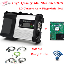 2017 hot sale MB star C5 WIFI with HDD 2017.09 SD mb star C5 Full Set connect Diagnostic Tool For car&truck better than sd c4