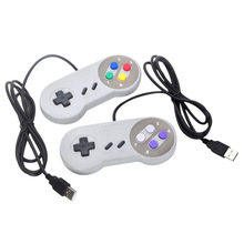 Retro USB Wired Gaming Controller Game Pad Joystick for Nintendo SNES 2 Type Wired Gamepad for PC/MAC Controllers