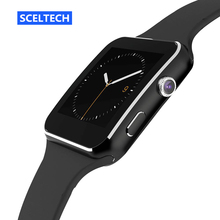 SCELTECH Bluetooth Smart Watch X6 Smartwatch Sport Watch for Android Phone with Camera support Pedometer Whatsapp SIM Card(China)