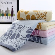 Cotton terry towel thick cotton towels Rose factory direct high-quality absorbent cotton towels Goyang(China)
