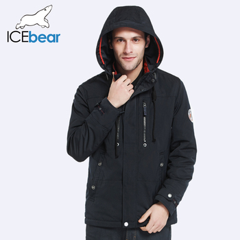 ICEbear 2017 Съемная Шляпа Молния Дизайн Мода Осень-Весна Дизайнер Траншеи Пальто Мужчины Куртка Удобная Куртка 17MC302D