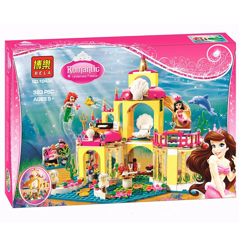 2017 BELA 10436 Princess Undersea Palace Girl Friends Building Blocks 383pcs Bricks Toys For Children Birthday Gift<br><br>Aliexpress