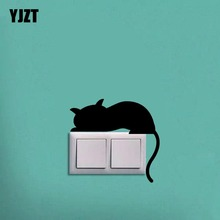 Lazy Sleeping Cat Animal Wall Artistic Vinyl Kitchen Decal Decor Switch Sticker Decorative 8SS-0333