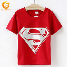 2015 Superman Children T shirts  Cotton Boy Tops and Tes Boys T shirt Roupas Infantis Menino Vetement Garcon Marque