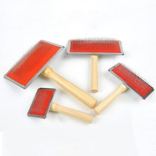 4 Size Pet Grooming Comb Wooden Handle Needle Comb For Hair Pet Brush Beauty Brush Dog Accessories(China)