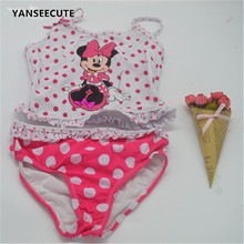 2017 girl two  piece baby swimwear kids girls bikini swimsuit toddler print cheap china clothes free shipping for   BBF155-1P