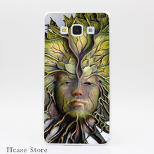 3843CA Tree face woman Transparent Hard Cover Case for Galaxy A3 A5 A7 A8 Note 2 3 4 5 J5 J7 Grand 2 & Prime