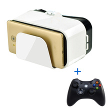 VR Box 3D Headset Virtual Reality Glasses/Goggles with Controllers Googles Cardboard 3D Glasses For Smartphone 4.5-6.6 inch