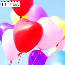 10pcs/lot 10inch Thick 1.5g Love Heart Latex Balloons Inflatable Wedding Party Decoration Balloons Happy Birthday Party Supplies(China)