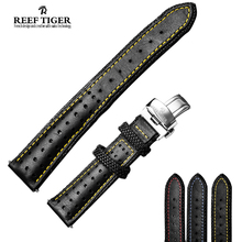 Reef Tiger Mens Design Durable Genuine Leather Watch Band for Space Noddle