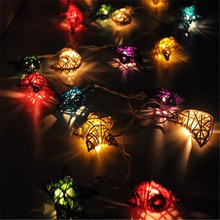 Novelty LED 20 Rattan Star Pendant String lighting Christmas New Year Decoration Wedding Party lamps luminaria chandelier home(China)