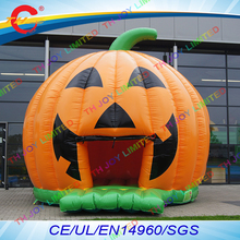 free air shipping to door,5mdia  inflatable pumpkin air  jumper bouncer,inflatable halloween bounce house