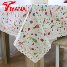Rustic style table cloth with flower pattern fresh simple table cover for kitchen wedding home toalha de mesa  #30