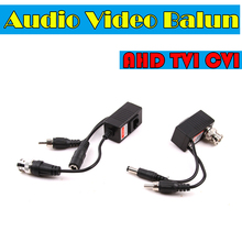 AHD/CVI/TVI CCTV Camera Audio Video Balun Transceiver BNC UTP RJ45 Video Balun with Audio Video and Power over CAT5/5E/6 Cable(China)