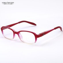 Girls So Cute&Light High Quanlity TR Red&Transplant Color Clean Lens / Kids Flexible Spring Hinge Eyeglasses/Glasses D029(China)