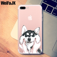 WeiFaJK Case for iPhone 5s Cute Dog Cartoon Panda Adorkable Cover TPU Shell Silicone Soft Case for iPhone 7 8 6 6s 5 Plus X Case(China)