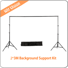 2x3m Adjustable Background Support Stand Photo Backdrop Crossbar Kit