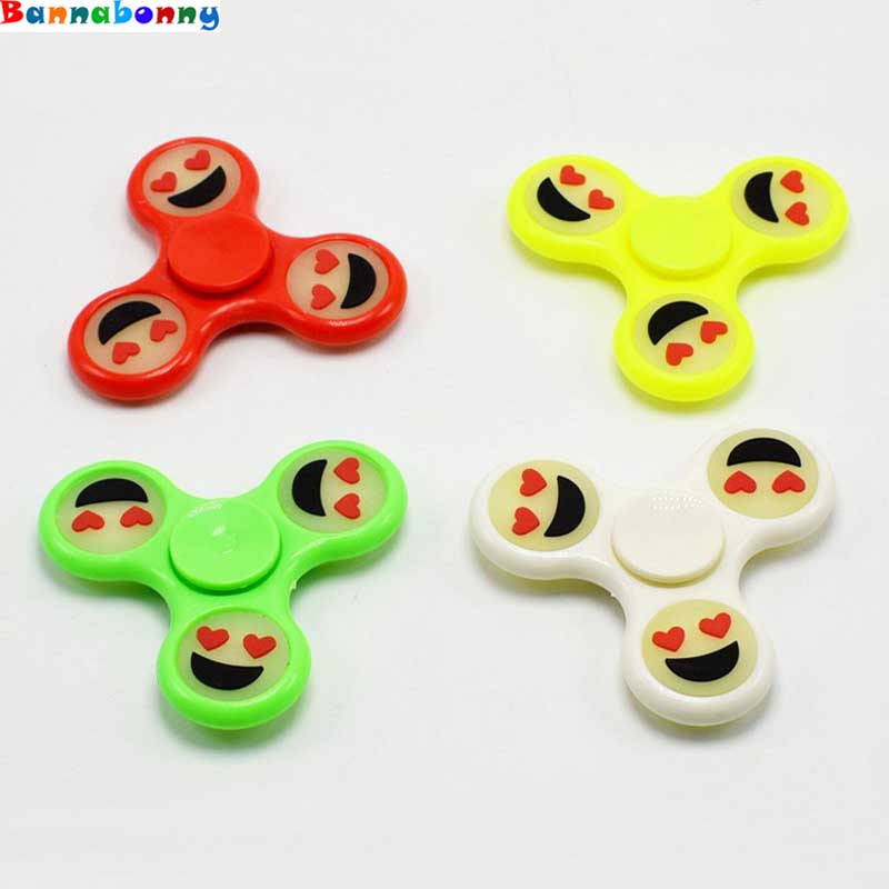50PCS/Lot Hand Spinner Luminous Smile Emoji EDC Finger Spinner Spinner Finger Glow Dark Autism ADHD Anti Stress