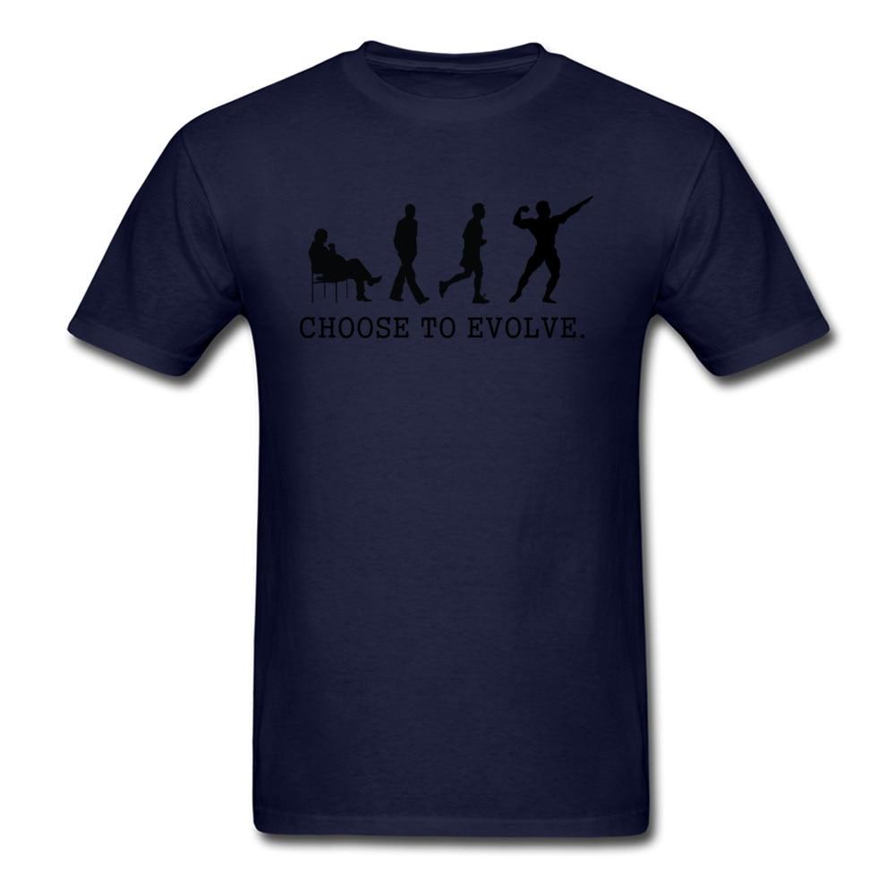 Choose to Evoe Tops Shirt Fashion O-Neck Printed Short Sleeve 100% Coon Fabric Student T Shirt Design Tee Shirts Choose to Evoe navy