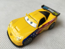 KK01--Original Pixar Car Movie 2 1:55 Metal Diecast Jeff Gorvette Toy Cars New Loose