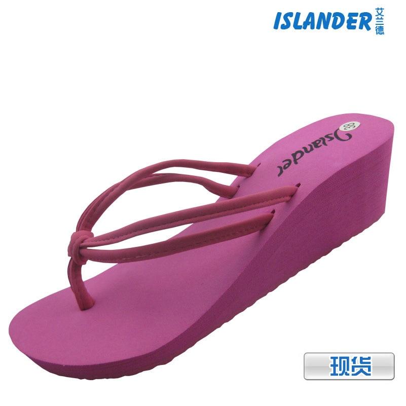 Summer stock heels herringbone beach slippers wholesale ladies high elastic EVA muffin bottom slippers<br><br>Aliexpress