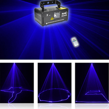 SUNY Xmas Upgrade Remote Control DMX 450mW BLUE Laser Scan Stage Lighting DM-B450 Party Show Light Professional Disco Green Beam