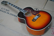New Acoustic Guitar SJ200 Cherry Sunburst guitar with Fishman Pickups Acoustic Electric Guitar in Stock