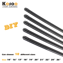 "Auto Car Vehicle Insert Rubber Strip Wiper Blade (Refill) 8mm Soft 14"" 16"" 17"" 18"" 19"" 20"" 21"" 22"" 24"" 26"" 10pcs Car Accessories"