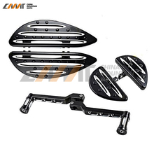 Deep Cut Driver Stretched Rear Passenger Floorboard+Shift Lever+Edge Shifter Peg case for Harley Touring Softail FLHT