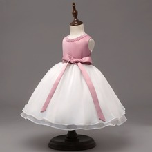 Baby Princess Dress Beautiful Beads Ball Gown Dress for Wedding Party Toddler Christening Gown Age 1 2 Years Baby Birthday Dress(China)