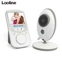 Baby Monitor Looline 2.4 Inch Wireless Baby Nanny Security Camera Baby Radio Baby sitter 2 Way Talk with Temperature Monitoring(China)