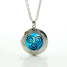 Air Nomad Necklace from Avatar the Last Airbender Bright Silver or Antique Bronze Pendant, Unique Jewelry Handmade N616(China)