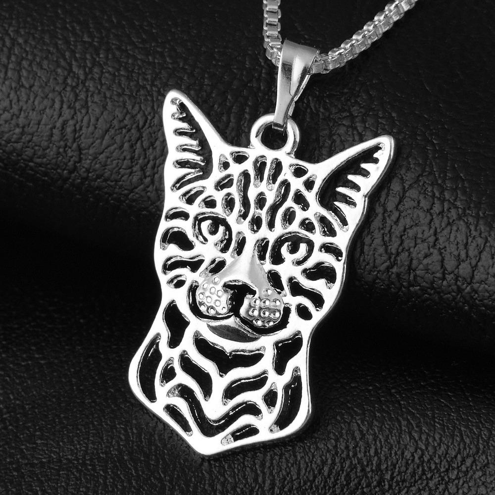 102-19x28mm,Bengal cat Pendant Necklace