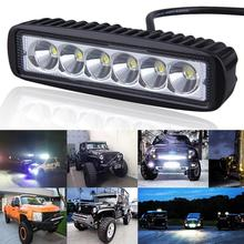 New 6 inch 18W LED Light Bar 12V 24V Motorcycle LED Bar Offroad 4x4 ATV Daytime Running Lights Truck Tractor Warning Work Light