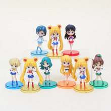Great 3pcs/lot Q posket Sailor Moon Tsukino Usagi / Sailor Ami / Sailor Mars Hino Rei PVC Action Figure Toy opp bag