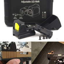 Мини RMR Red Dot Sight Collimator Glock/Rifle Reflex Sight Scope fit 20 мм Weaver Rail для страйкбола/охотничьей винтовки(China)