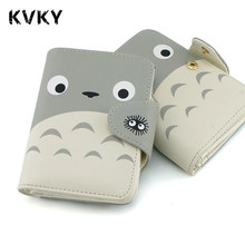 2017 My Neighbor Totoro Wallet Japanese Anime Short Purse Hasp Lovely Cat Wallet Card Holder for Students