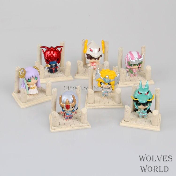 7pcs/set Anime Saint Seiya Egg Box Q Version The Gold Zodiac PVC Action Figures Toys SS002<br><br>Aliexpress
