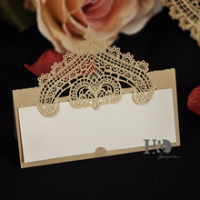 12PC/lot Champagne Crown Party Table Name Place Cards Casamento Souvenirs Wedding Invitations Decor Queen Princess party(China)