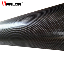 30*152CM Waterproof Car Motorcycle Sticker Car Styling 4D Carbon Fiber Vinyl Wrapping Film Auto Car Accessories Bubble Air Free(China)