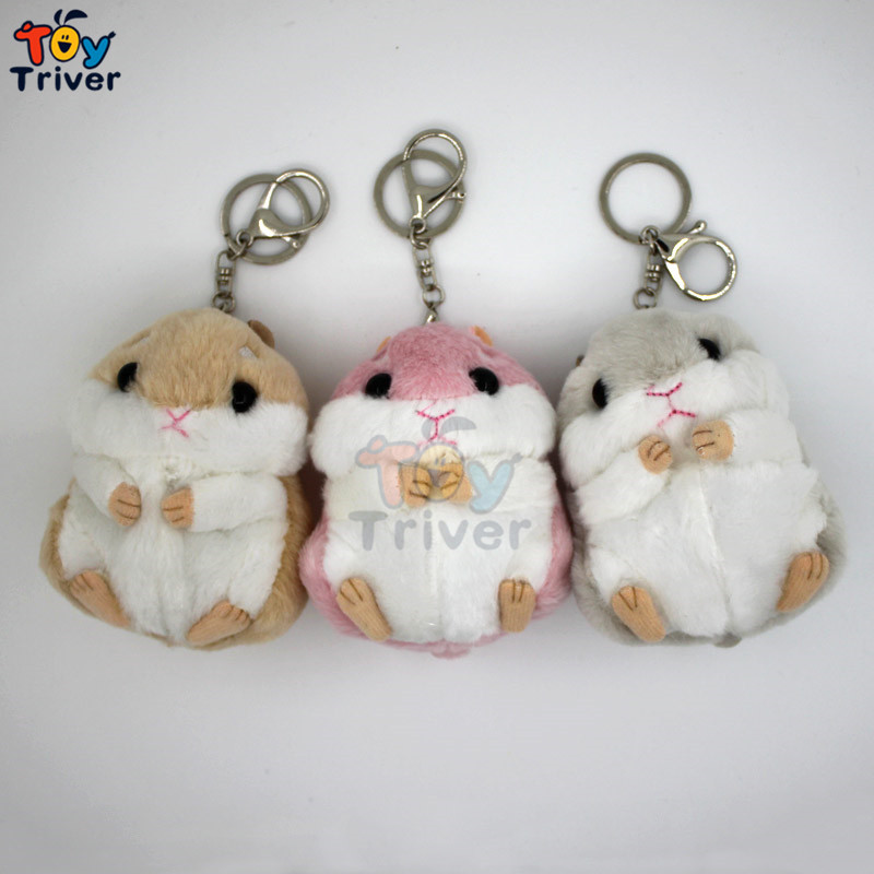 Wholesale 100pcs plush Japan hamster stuffed doll toys keychains keyring pendant Accessories For handbag Bag Purse gift<br><br>Aliexpress