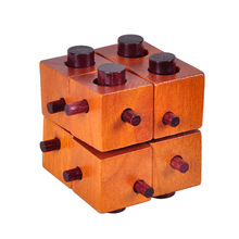 Wooden Puzzle Game Intelligence Game Magic Box Brain Teaser Toy kids IQ Educational Kong Ming wood Lock for Adult And Children(China)