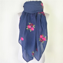 Big Size Floral Viscose Scarf new Women scarf Ethnic Style Embroidered Cotton Scarves Shawls for Women(China)