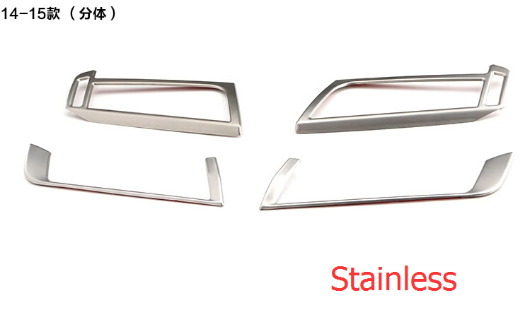 For BMW X5 F15 2014 Stainless Steel Air Conditioning Vent Decorative Frame Cover Interior Trims 4pcs / set<br><br>Aliexpress