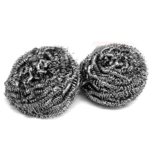 HOT GCZW-Two Rust Resistance Kitchen Metal Wire Cleaning Balls(China)